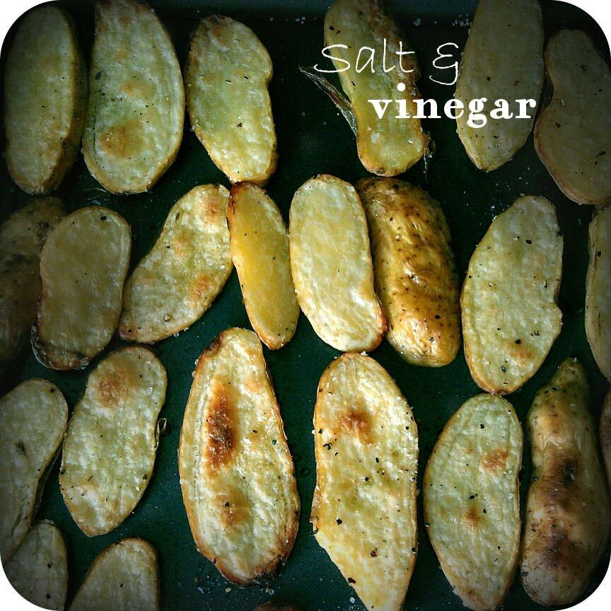 Salt And Vinegar Roasted Potatoes Recipe — Dishmaps
