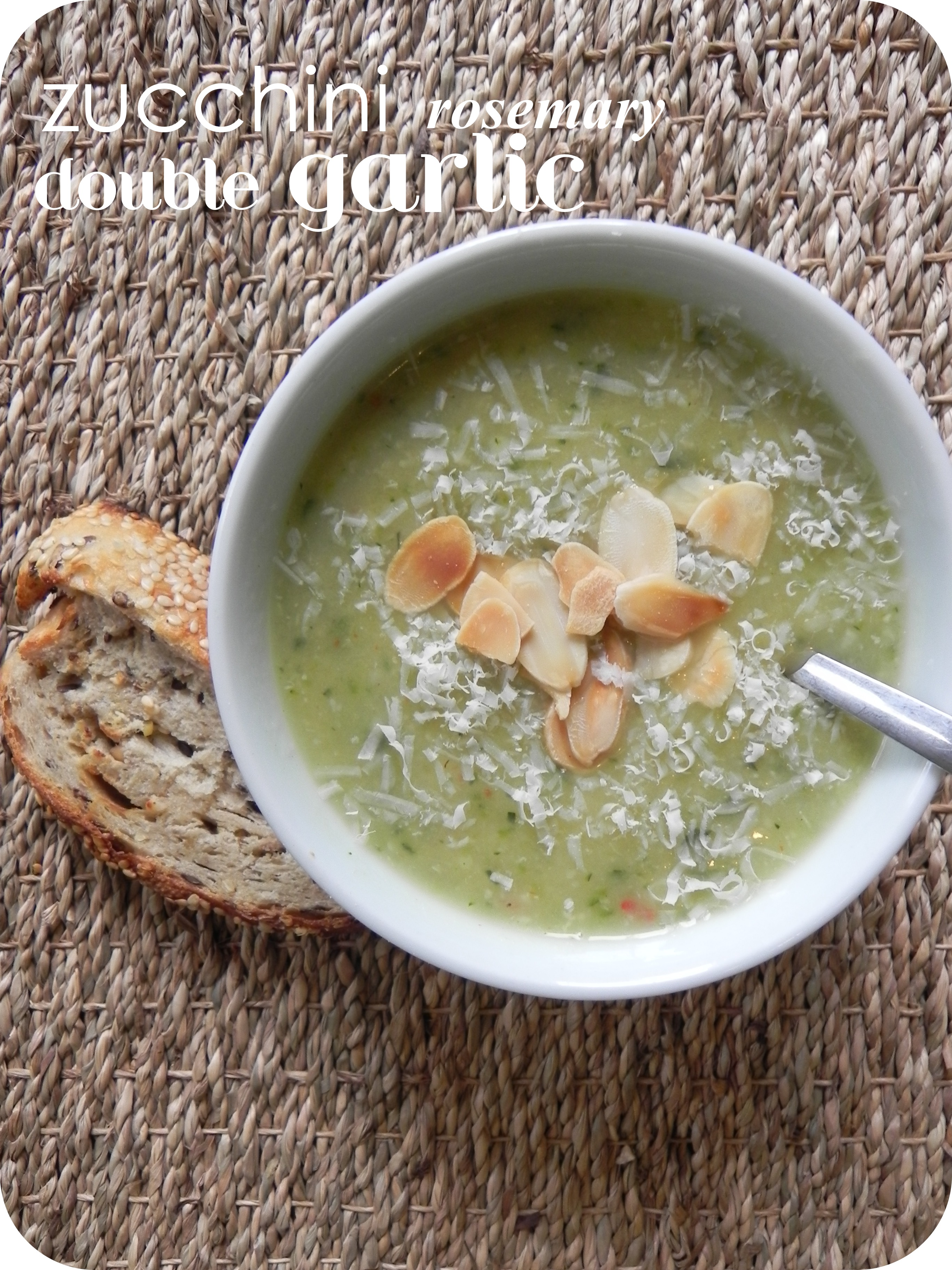Zucchini, Garlic and Rosemary Soup | VORACIOUS VEGGIE