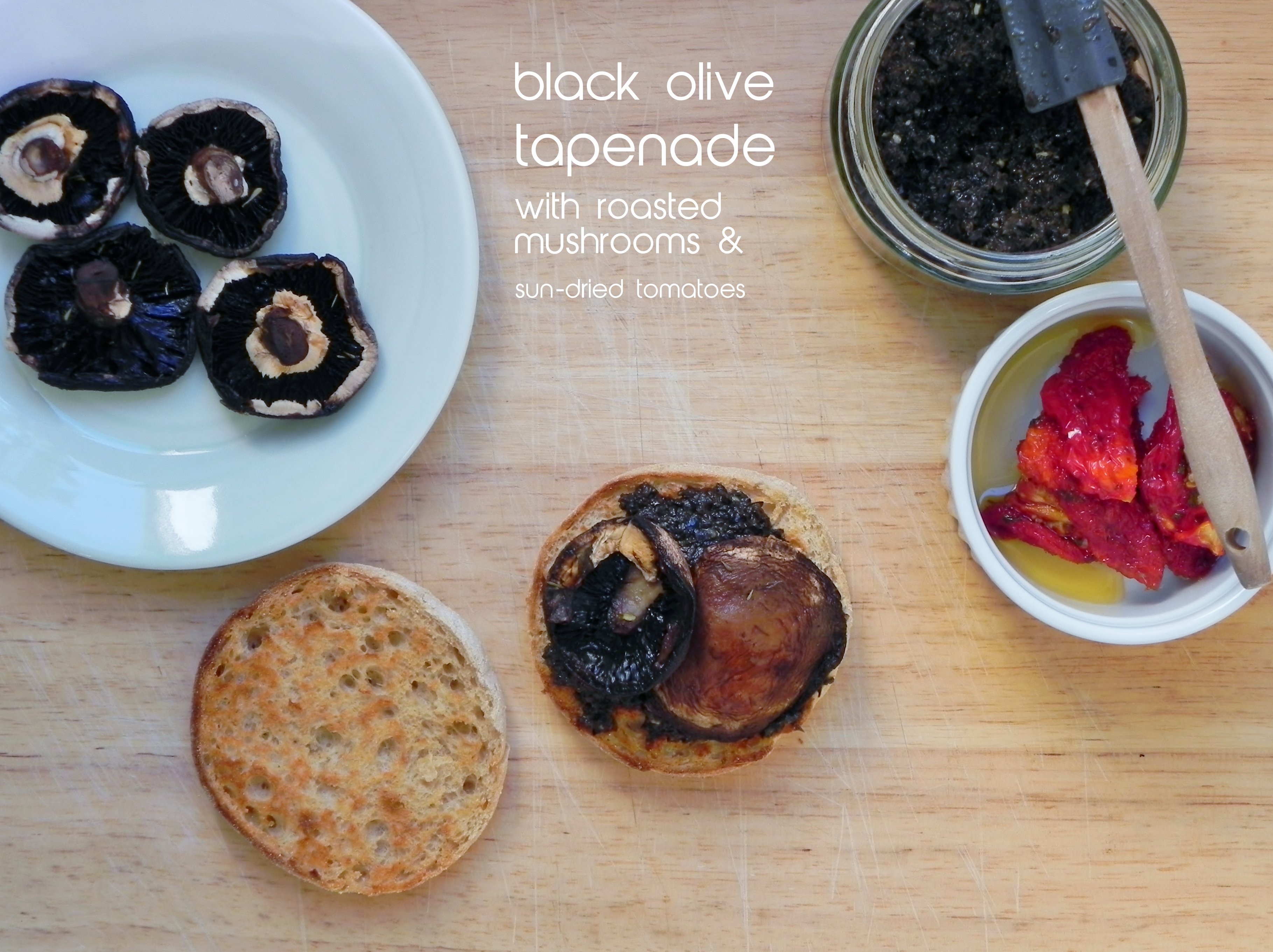 Easy Black Olive Tapenade with Roasted Mushrooms | VORACIOUS