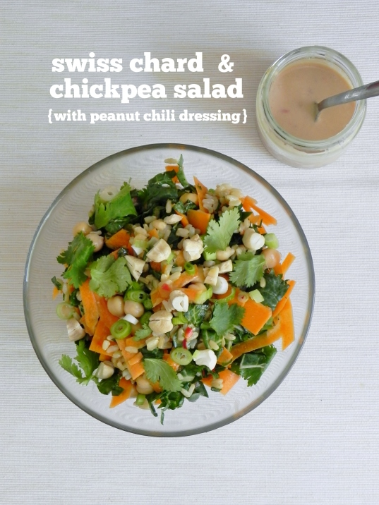 Swiss Chard and Chickpea Salad with Peanut Chili Dressing | VORACIOUS ...