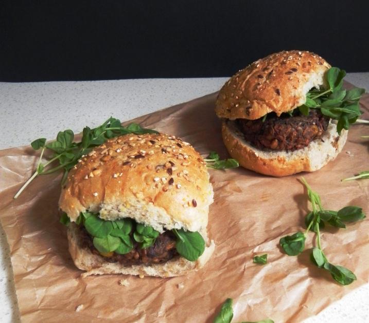 lentil mushroom burger 2