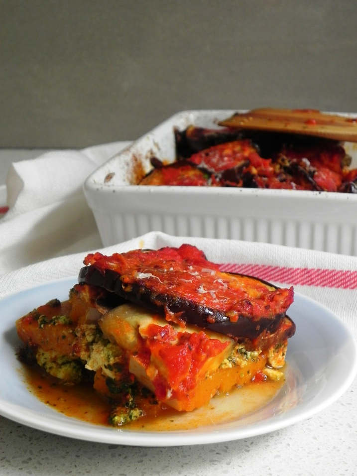 eggplant and butternut lasagna