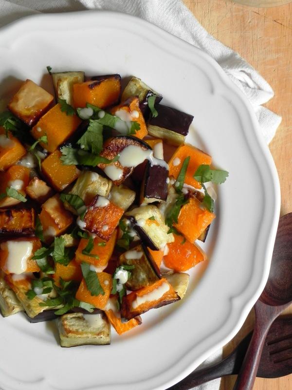 roasted eggplant & butternut miso tahini sauce